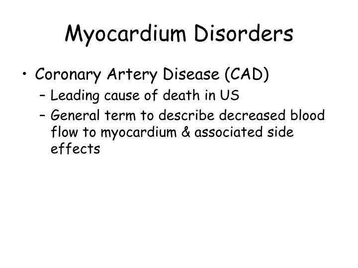 Myocardium Disorders