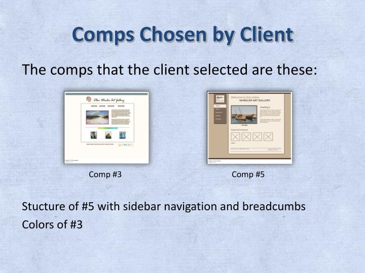 Comps Chosen by Client