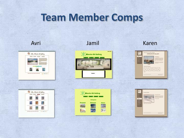 Team Member Comps