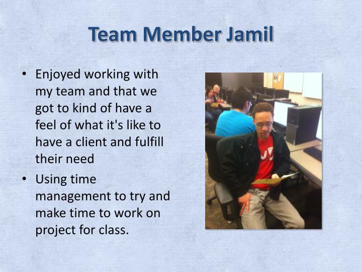 Team Member Jamil