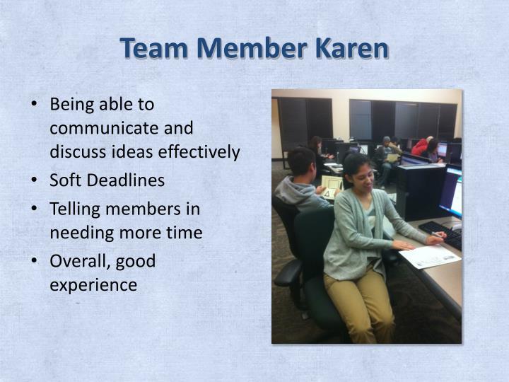 Team Member Karen