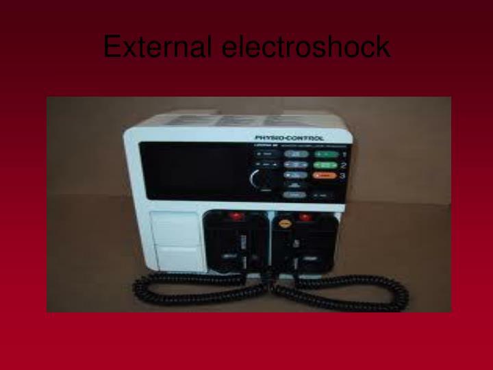 External electroshock