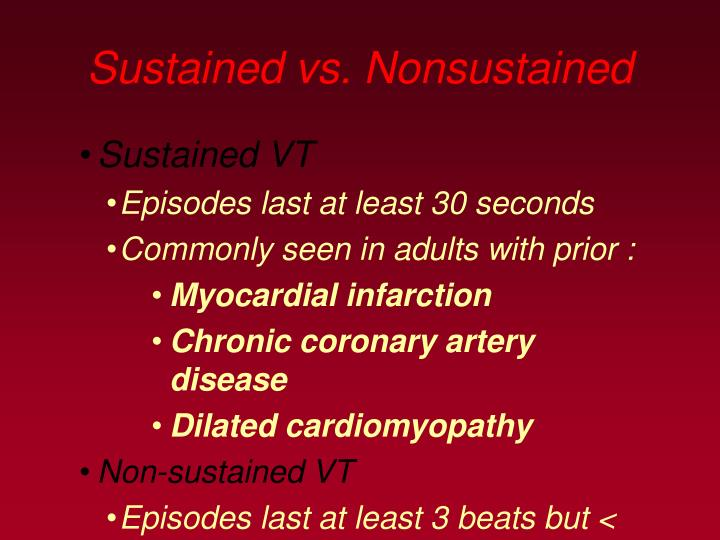 Sustained vs. Nonsustained
