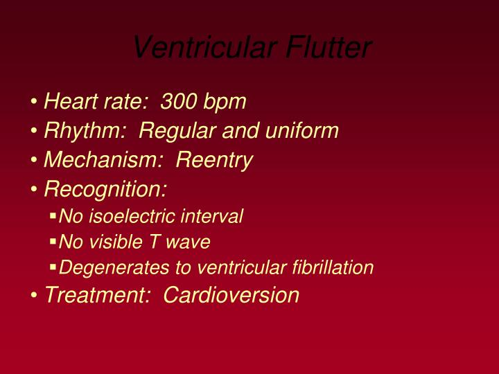 Ventricular Flutter
