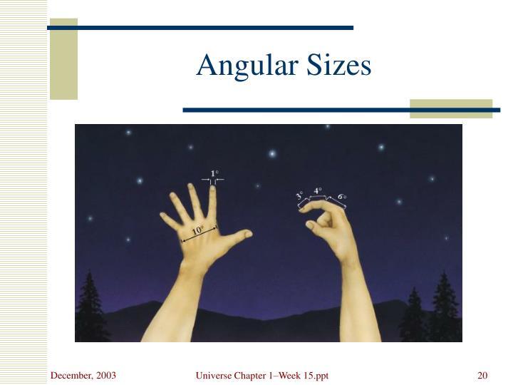Angular Sizes