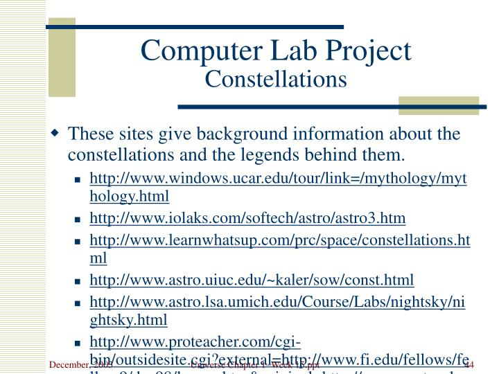 Computer Lab Project
