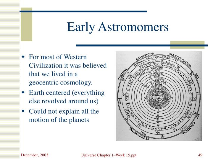 Early Astromomers