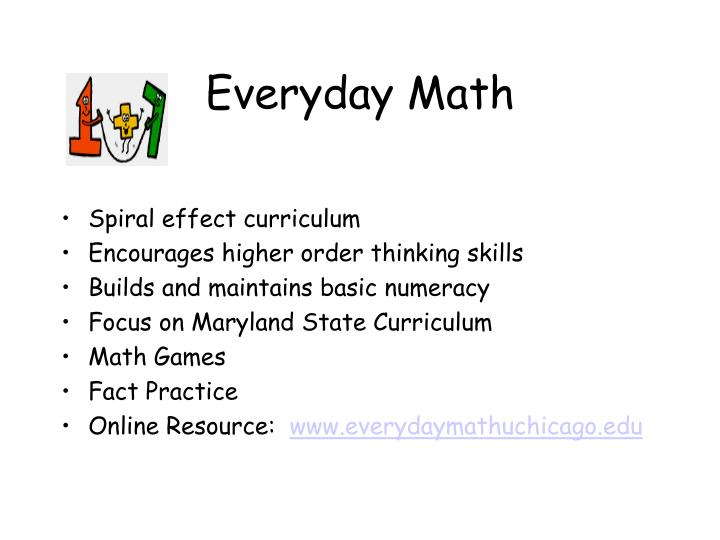 Spiral effect curriculum