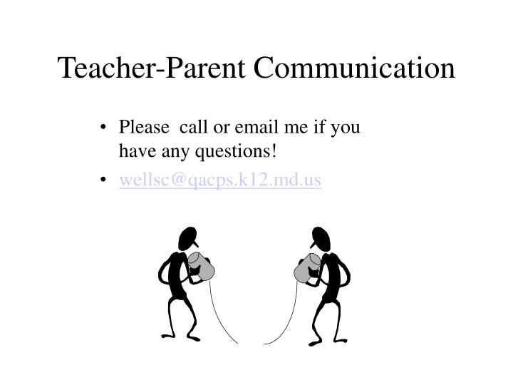 Teacher-Parent Communication
