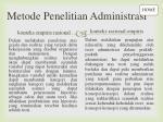 metode penelitian administrasi