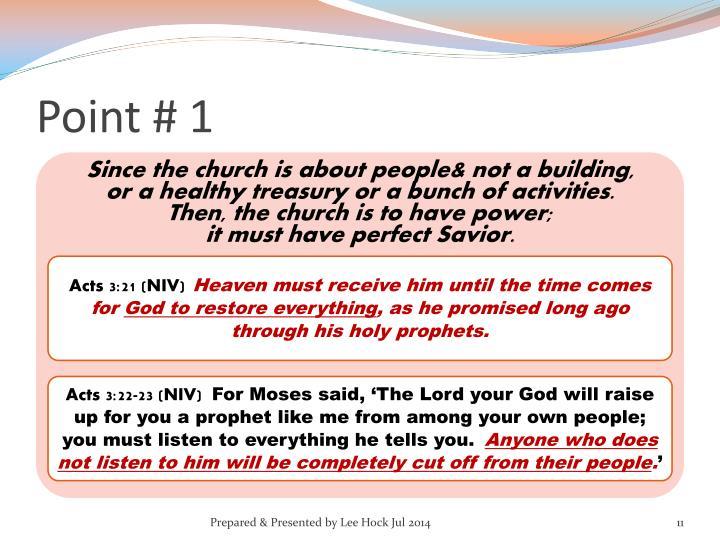 Point # 1