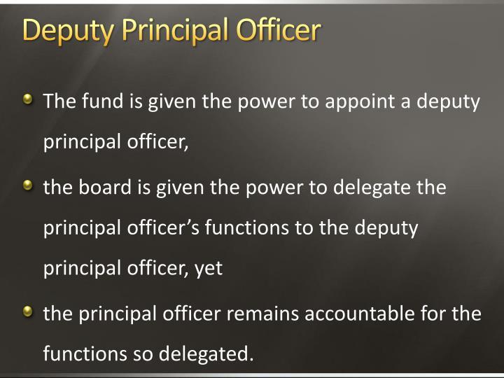 Deputy Principal Officer