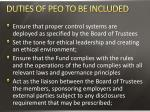 duties of peo to be included2