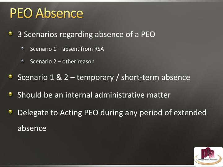 PEO Absence