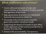 what codification will achieve