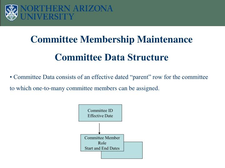 Committee Membership Maintenance