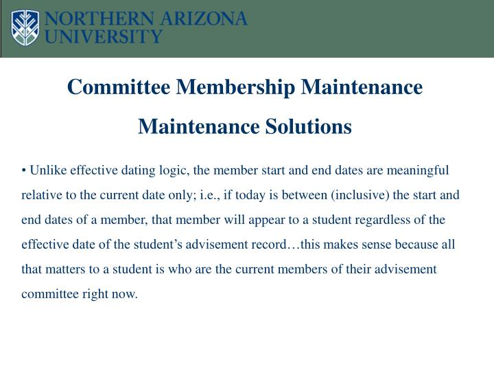 Committee Membership Maintenance Maintenance Solutions