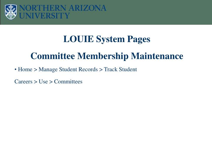 LOUIE System Pages