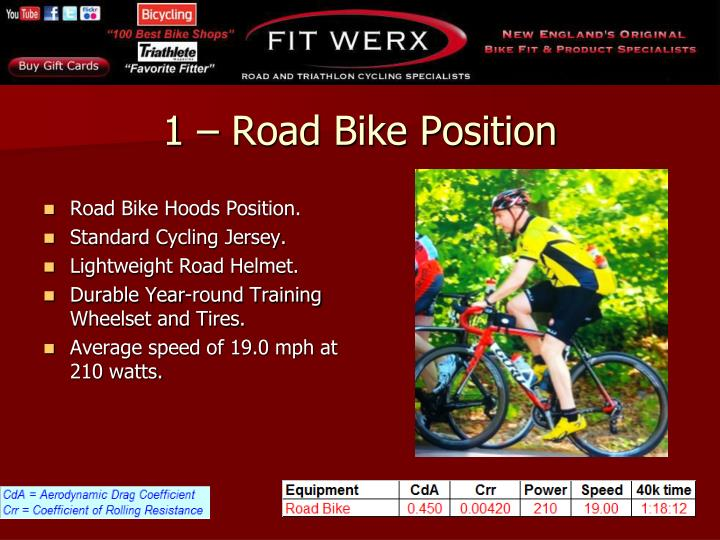 Road Bike Hoods Position.