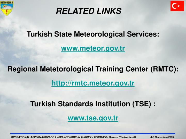 Turkish State Meteorological Services: