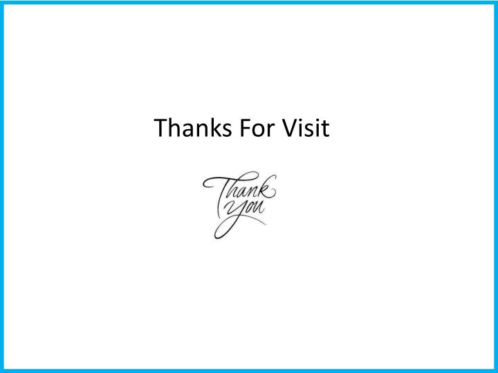 Thanks For Visit