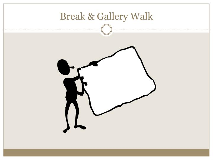 Break & Gallery Walk