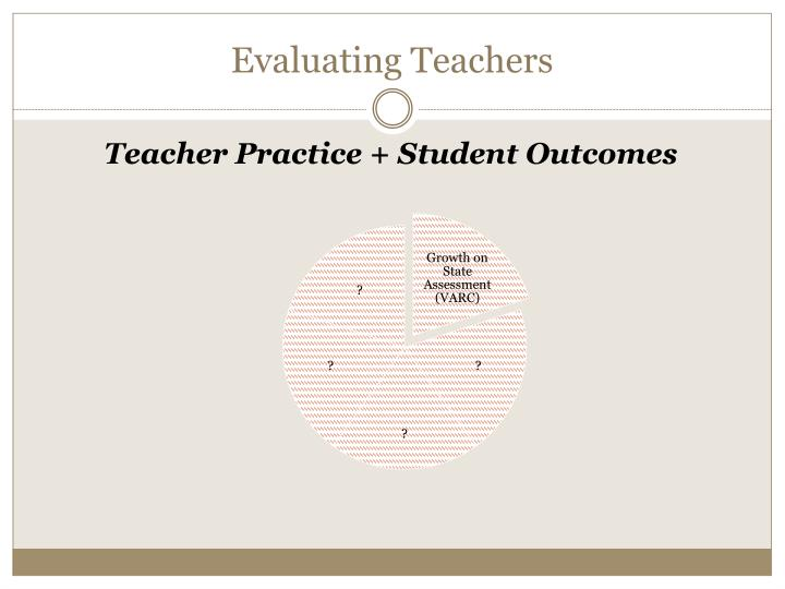 Evaluating Teachers