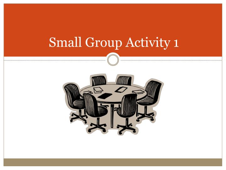 Small Group Activity 1