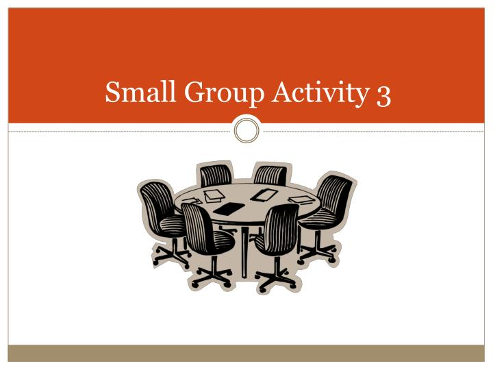 Small Group Activity 3