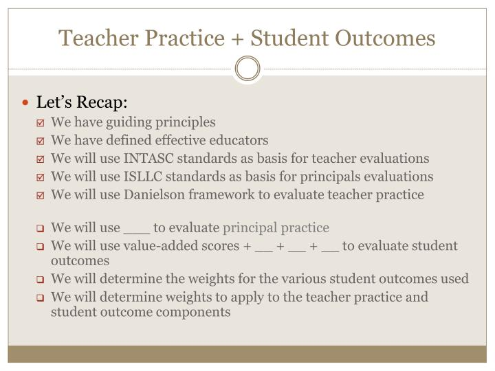 Teacher Practice + Student Outcomes