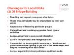 challenges for local bbas 2 of bridge building