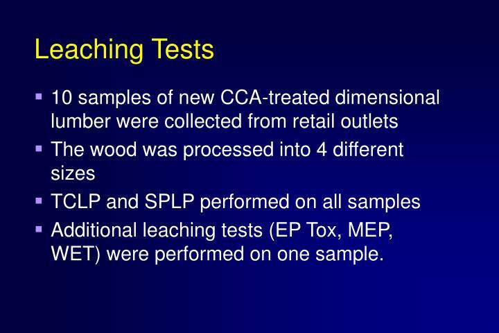 Leaching Tests
