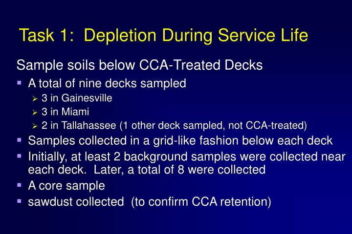 Task 1:  Depletion During Service Life