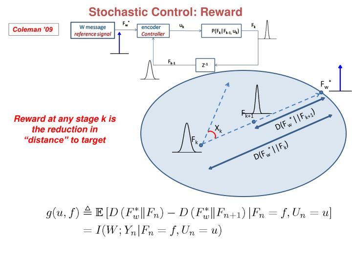 Stochastic Control: Reward