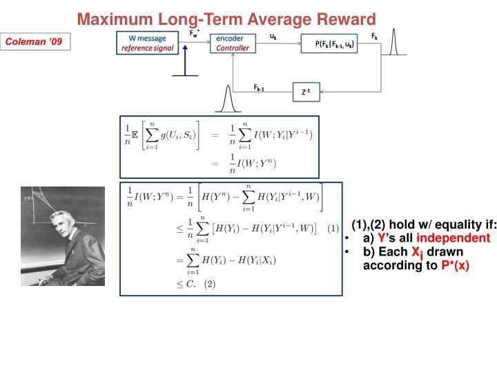 Maximum Long-Term Average Reward