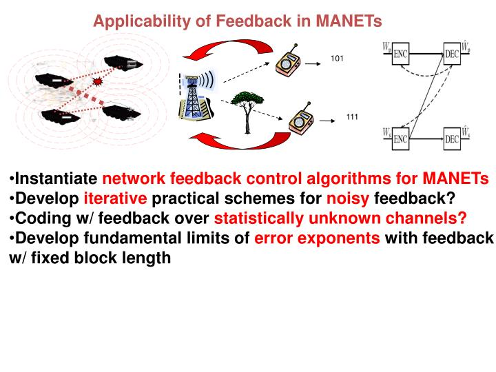 Applicability of Feedback in MANETs