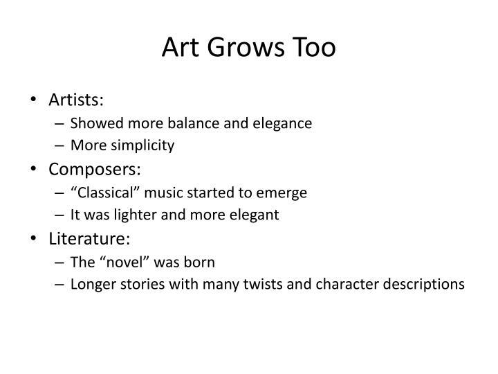 Art Grows Too