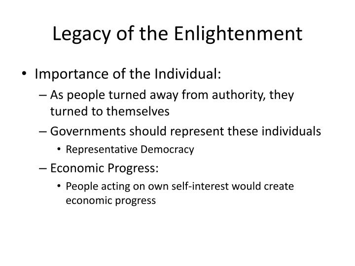Legacy of the Enlightenment
