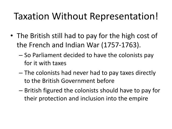 Taxation Without Representation!
