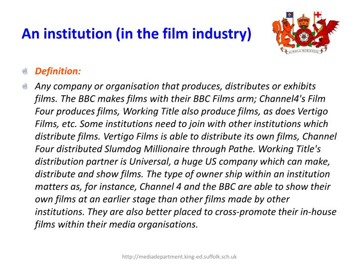 An institution in the film industry