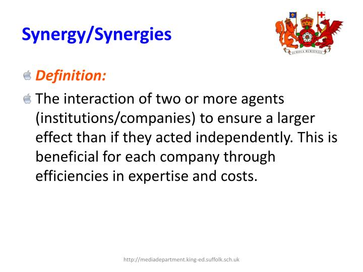 Synergy/Synergies