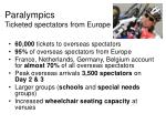 paralympics ticketed spectators from europe