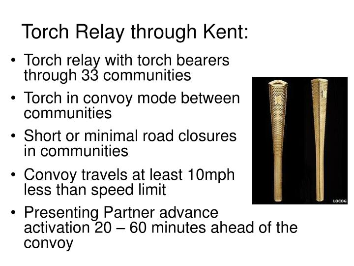 Torch Relay through Kent: