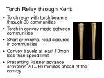 torch relay through kent