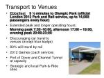transport to venues
