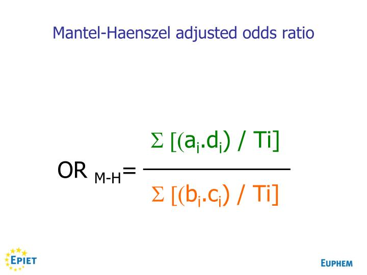 Mantel-Haenszel adjusted odds ratio