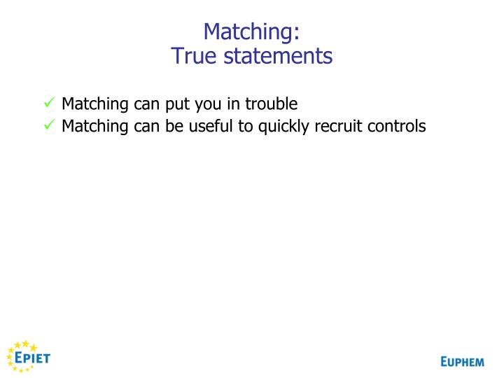 Matching: