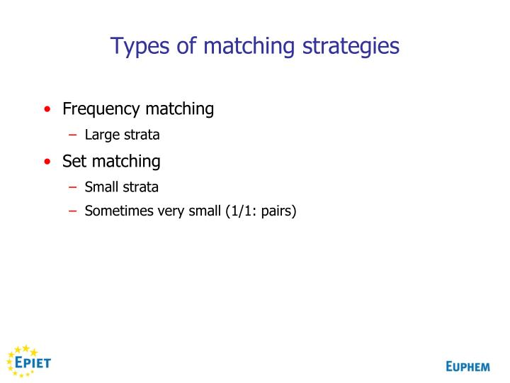 Types of matching strategies