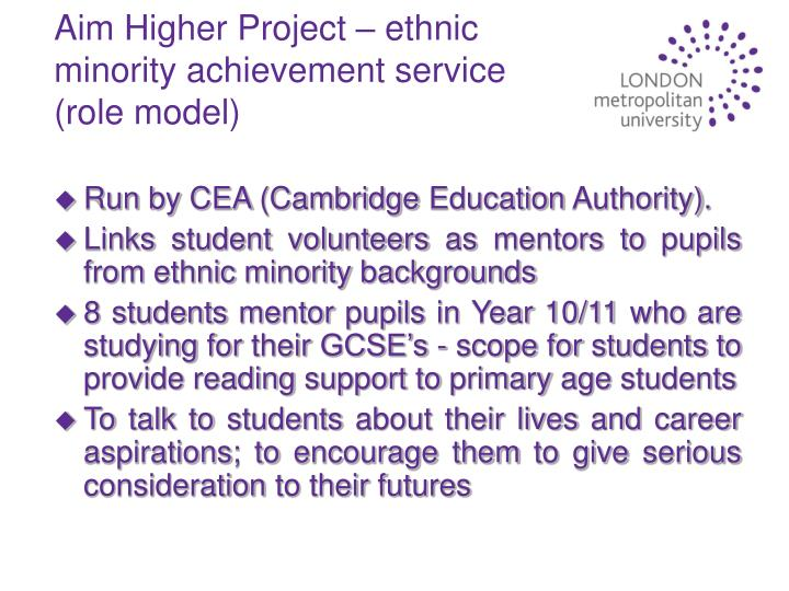 Aim Higher Project – ethnic minority achievement service