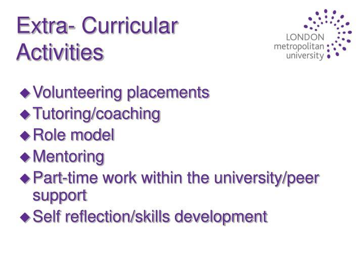 Extra- Curricular Activities